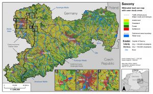 Land-use map of Saxony